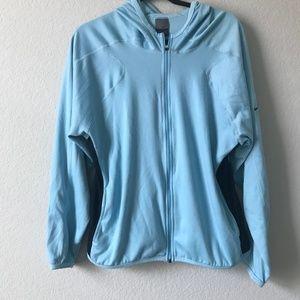 Nike DriFit Blue Track Zip Workout Jacket